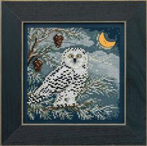 Snowy Owl Winter Mill Hill 2014 Button and Beads kit Mill Hill  - $11.70