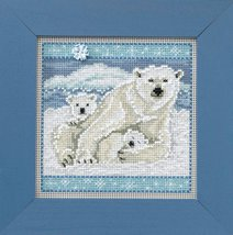 Polar Bears Winter Mill Hill 2014 Button and Beads kit Mill Hill  - $11.70