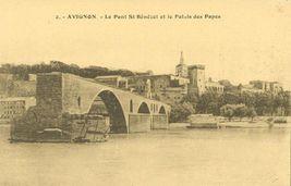 France, Avignon, Le Pont St. Benezet et le Palais des Papes, early 1900s... - $4.99