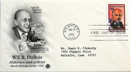 Jan. 31, 1992 First Day of Issue, Art Craft Cover, W.E.B. DuBois #5 - $1.34
