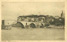 France, Avignon, Le Pont St-Benezet, et le rocher des Doms, CPA - $3.50