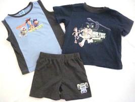 Boy Size 24 Mos Toy Story  3PC Shorts Tank Top & T-shirt  Set  Navy Gray... - $9.79