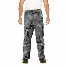 Men's Camo Military Tactical Work Combat Army Slim Fit Twill Cargo Pants image 8