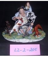 CAPODIMONTE  Old Man wi/  Dogs  E Arzenton Laurenz Classic Sculpture COA... - $781.07