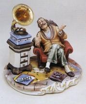 CAPODIMONTE Grandfather with Gramaphone Laurenz Classic  Sculpture COA  ... - $386.04