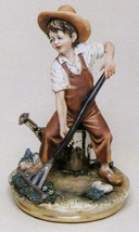 CAPODIMONTE  Child Gardner Enzo Arzenton Laurenz Classic Sculpture COA  ... - $241.87