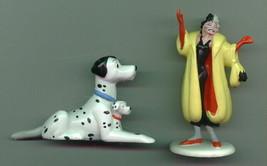 Disney 101 Dalmatians Cruella & Pongo & Puppy PVC 2 Figurines - $19.34