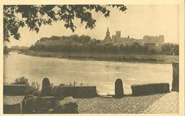 France, Avignon, Le Rhone et le Palais des Papes, early 1900s, unused Po... - $5.99