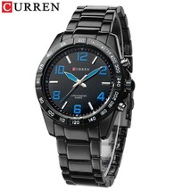 CURREN  Men  Watch Fashion Casual  Wristwatch Stainless Steel Waterproof Mens  C - $39.22