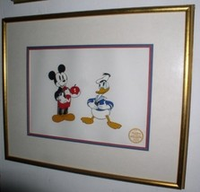 Disney Donald Duck Mickey's Amateure LE Serigraph Cel framed WDC - $235.69