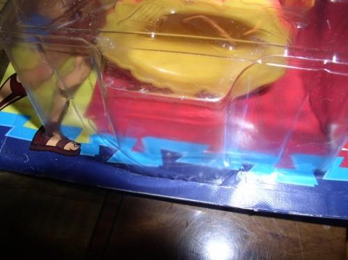 Disney Hercules Lava Titan a blob-like creature toy card crushed and bent