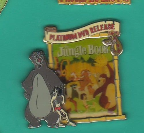 Disney Jungle Book Poster  Platinum Release 2007 3d pin/pins