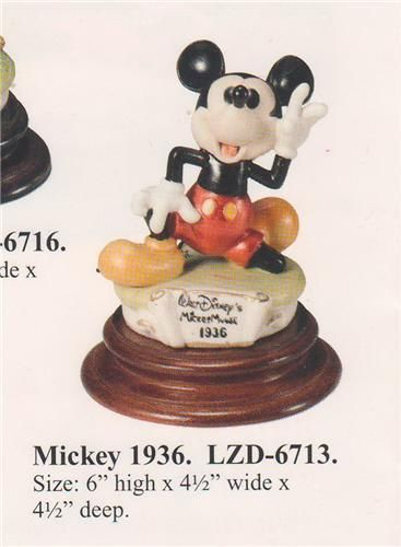 Disney Laurenz Capodimonte Mickey 1936  Figure COA Original Box