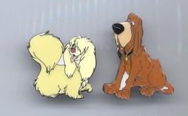 Disney Lady & Tramp Tursty Bloodhound and Peg 2 dogs pro Pin/pin - $137.72