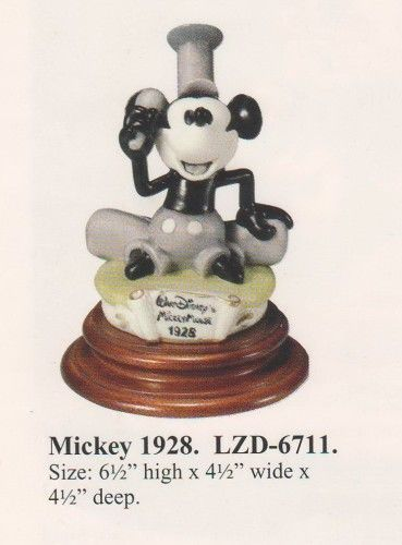 Disney  MICKEY STEAMBOAT WILLIE 1928Capodimonte C.O.A, Original Box