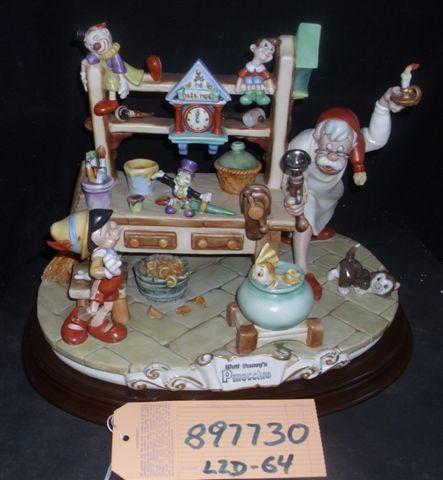 Disney Pinocchio & Gepetto Workshop Capodimonte COA Original Box  Reconditioned
