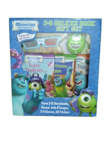 Primary image for Disney Pixar  Monsters University 3-D Deluxe Book Gift Set RARE Brand New