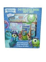 Disney Pixar  Monsters University 3-D Deluxe Book Gift Set RARE Brand New  - $98.95