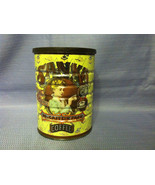 Vintage 1980 Sanka Coffee Can with Lid Woman Dr... - $9.99