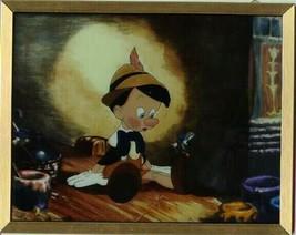 Walt Disney Jiminy Cricket & Pinocchio  Stained Glass COA Sun Catcher - $125.77