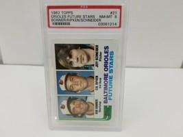 1982 Topps Cal Ripken Baseball Card PSA 8 #21 Orioles Future Stars FREE ... - $39.08
