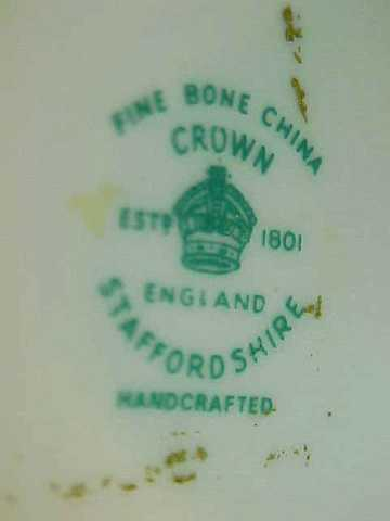 Crown Staffordshire England Bone China Floral Swan