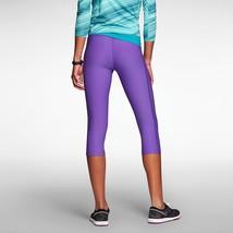 Womens Nike golf 619952 Purple Capris Workout Running Leggings pants tig... - $37.36