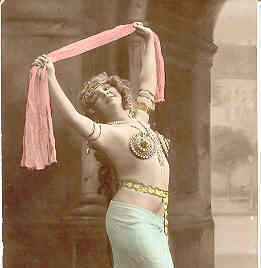 The Belly Dancer, Real Photo Post Card
