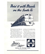 1948 Santa Fe System Lines Railway Train service print ad - $10.00