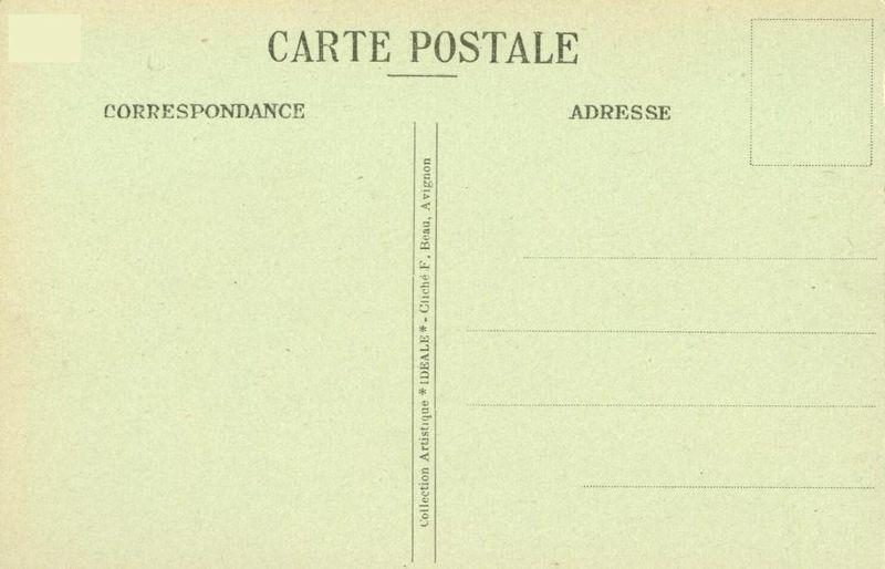 France, Avignon, Palais des Papes, Les Remparts et le Rhone, early 1900s CPA