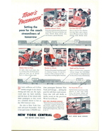 1945 New York Central pacemaker water level route print ad - $10.00