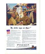1944 Pullman Train service WWII Army GI in Syria print ad - $10.00