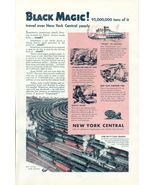 1944 New York Central BLACK MAGIC Coal Train print ad - $10.00