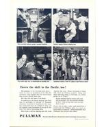 1945 Pullman Train wartime welfare comfort service print ad - $10.00
