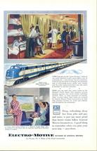 1949 GM Electro-Motive Diesel Locomotive Train print ad - $10.00
