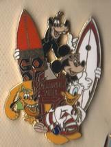 Surfboard Goofy Donald Pluto Mickey DCA Disney Paradise Pier  Disney pin... - $19.98