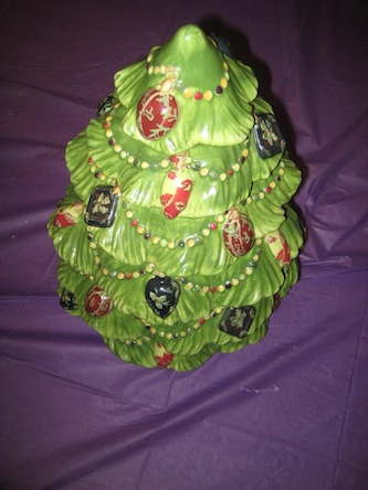 Winstedumchurch s booth 187 vintage ceramic christmas tree cookie jar