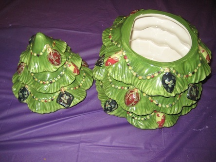 Vintage ceramic christmas tree cookie jar other