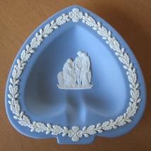 Wedgwood Jasperware Trinket Dish Ashtray Spade Card Blue Pin Dish - $13.94
