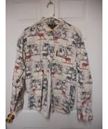 North River Outfitters Men's XL Deer Buck Print Shirt Long Sleeve Button... - $12.82