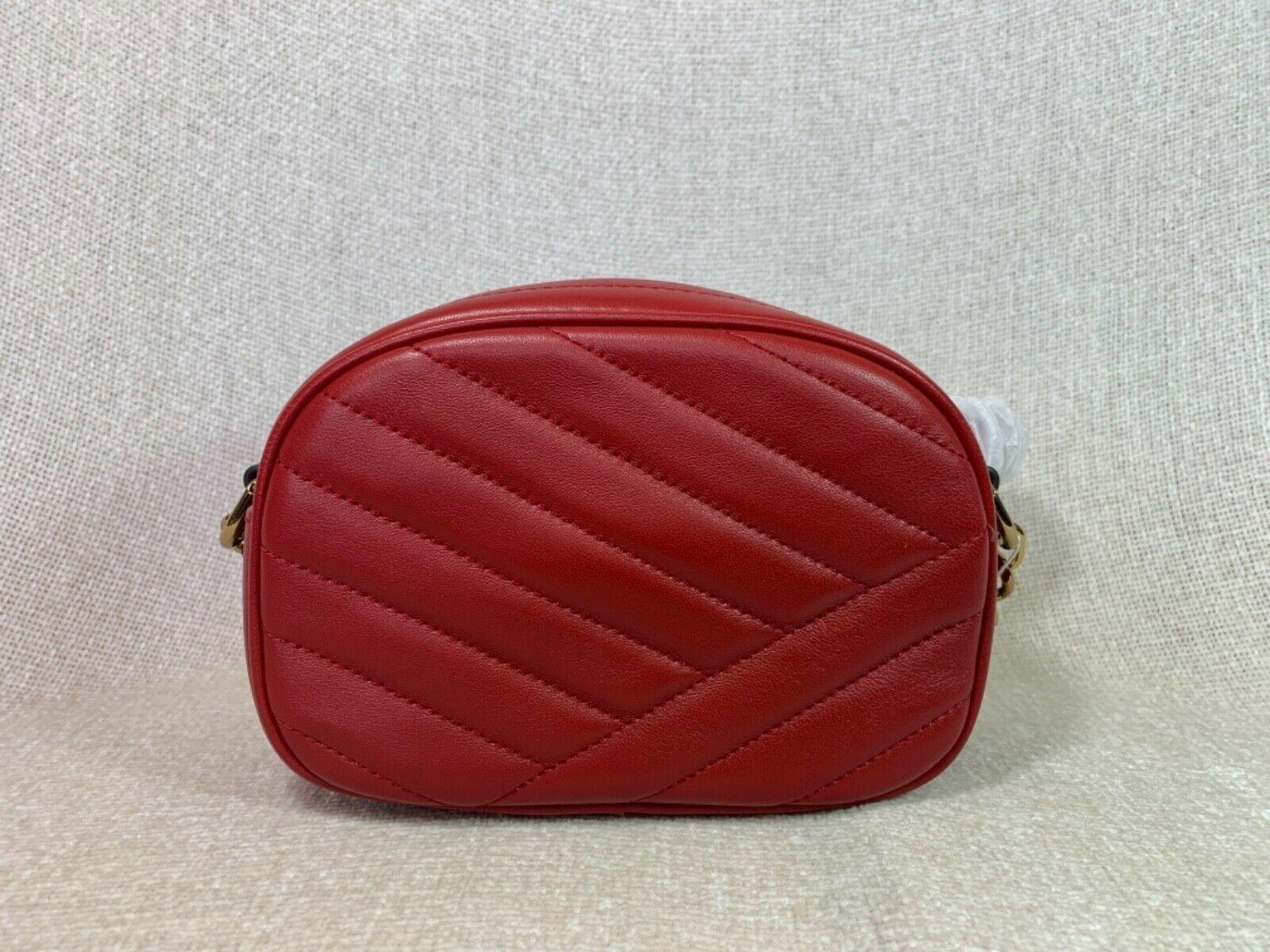 NWT Tory Burch Red Apple Kira Chevron Small Camera Bag $358 image 6