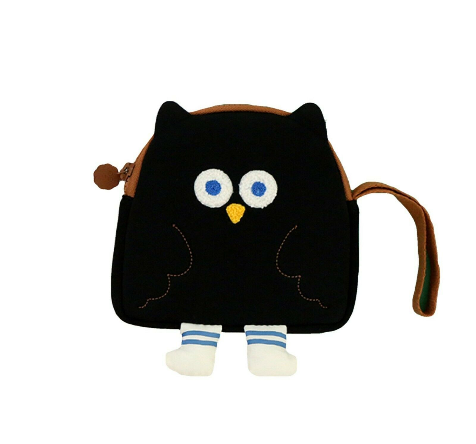 Brunch Brother Flying Owl Pouch Cosmetic Bag Case Organizer (Black)