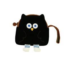 Brunch Brother Flying Owl Pouch Cosmetic Bag Case Organizer (Black) image 1