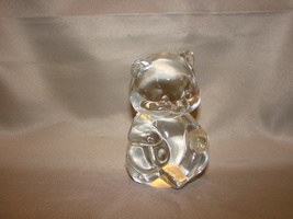 Fenton 24% Lead Crystal Teddy Bear Figure - $4.49