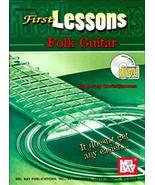 First Lessons Folk Guitar/Book w/CD Set/New! - $8.99