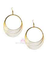 Beauty for Ashes Whisper Whispy Goldtone Layered Hoop Dangle Gold Metal ... - $19.95