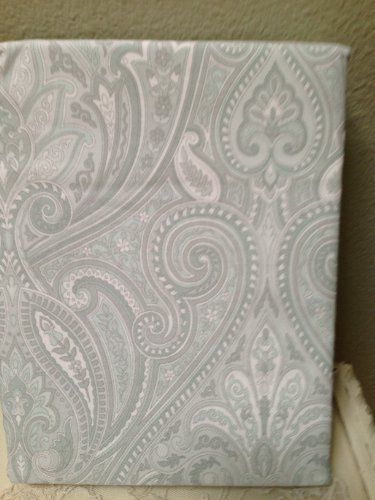 Bella Lux Fine Linens Paisley Shower Curtain And 50