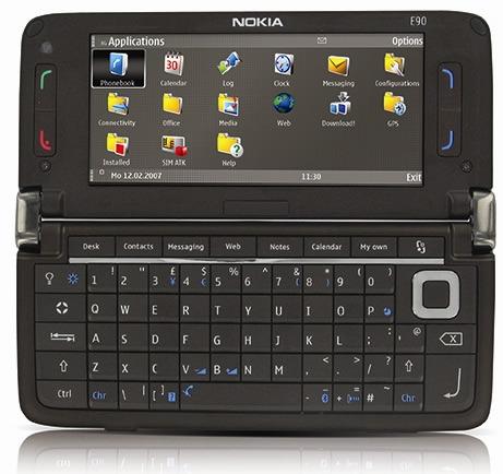 nokia e90 coffee mocha communicator smartphone cellphone mobilephone