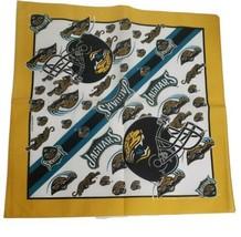 """An item in the Sports Mem, Cards & Fan Shop category: Vintage Jacksonville Jaguars NFL 1995 1st Bandana 21""""x21"""" Cotton Unused mask VTG"""