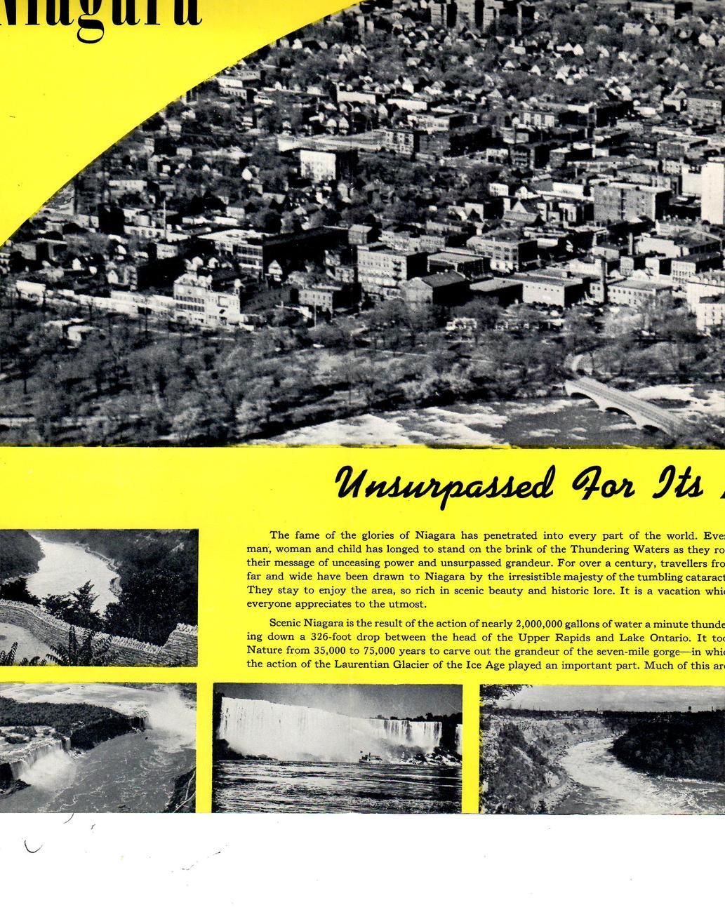 Niagra Falls  (1952) America's Seenic Wonderland-  Broshure